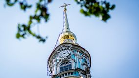 Καθεδρικός ναός Smolny, μονή Smolny της αναζοωγόνησης ν Αγία Πετρούπολη, Ρωσία στοκ φωτογραφία