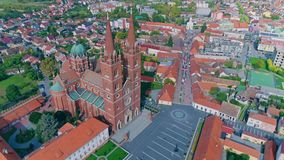 Καθεδρικός ναός ST Peter Djakovo απόθεμα βίντεο