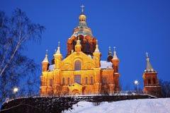 Καθεδρικός ναός Uspenski στο Ελσίνκι Στοκ εικόνα με δικαίωμα ελεύθερης χρήσης