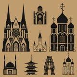 Καθεδρικοί ναοί και εκκλησίες απεικόνιση αποθεμάτων