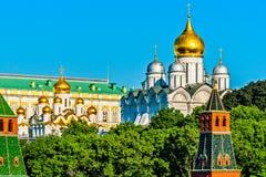 Καθεδρικοί ναοί της Μόσχας Κρεμλίνο το πρωί Στοκ Φωτογραφίες