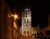 Καθεδρικός ναός Άγιος-Maurice τη νύχτα, Angers στη Γαλλία Στοκ Φωτογραφία