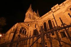 Καθεδρικός ναός Άγιος-Maurice τη νύχτα, Angers στη Γαλλία Στοκ φωτογραφία με δικαίωμα ελεύθερης χρήσης
