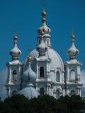 Καθεδρικός ναός Αγία Πετρούπολη Ρωσία Smolny Στοκ Φωτογραφίες