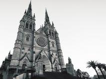 Καθεδρικός ναός Αγίου Mary ` s στο Σίδνεϊ σε γραπτό στοκ εικόνα