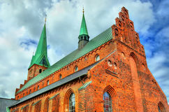 Καθεδρικός ναός Αγίου Olaf στην παλαιά πόλη Helsingor - της Δανίας Στοκ Φωτογραφίες