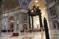 Καθεδρικός ναός Αγίου Peter στο Βατικανό, Ρώμη, Ιταλία Στοκ Φωτογραφίες