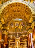 Καθεδρικός ναός Βουδαπέστη Ουγγαρία Αγίου Stephens αψίδων βασιλικών βωμών Στοκ φωτογραφία με δικαίωμα ελεύθερης χρήσης