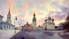 Καθεδρικός ναός εκκλησιών στην παλαιά μικρή ρωσική πόλη Στοκ φωτογραφίες με δικαίωμα ελεύθερης χρήσης