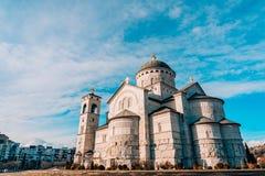 Καθεδρικός ναός εκκλησιών της αναζοωγόνησης Χριστού σε Podgorica Στοκ Φωτογραφίες