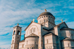 Καθεδρικός ναός εκκλησιών της αναζοωγόνησης Χριστού σε Podgorica Στοκ Φωτογραφία