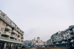 Καθεδρικός ναός εκκλησιών της αναζοωγόνησης Χριστού σε Podgorica Στοκ φωτογραφία με δικαίωμα ελεύθερης χρήσης
