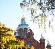 Καθεδρικός ναός Ελσίνκι Uspensky Στοκ φωτογραφία με δικαίωμα ελεύθερης χρήσης