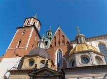 Καθεδρικός ναός και κάστρο Wawel στην Κρακοβία, Πολωνία στοκ φωτογραφία