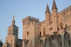 Καθεδρικός ναός και Palais des Papes Palace  Αβινιόν Στοκ Εικόνα