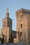 Καθεδρικός ναός και Palais des Papes Palace  Αβινιόν Στοκ φωτογραφία με δικαίωμα ελεύθερης χρήσης