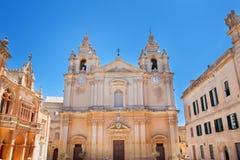 Καθεδρικός ναός Μάλτα Plaza SAN Paul ST Paul Στοκ Φωτογραφία