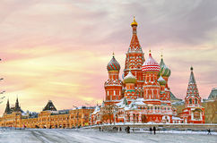 καθεδρικός ναός Μόσχα s ST βασιλικού Στοκ εικόνα με δικαίωμα ελεύθερης χρήσης