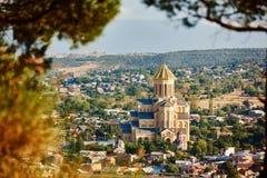 Καθεδρικός ναός Ορθόδοξων Εκκλησιών Sameba στο Tbilisi Στοκ Εικόνες