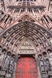 Καθεδρικός ναός προσόψεων της κυρίας μας στο Στρασβούργο, Αλσατία Στοκ εικόνες με δικαίωμα ελεύθερης χρήσης