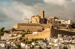 Καθεδρικός ναός Σάντα Μαρία σε Ibiza Στοκ εικόνες με δικαίωμα ελεύθερης χρήσης