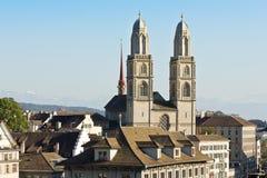 Καθεδρικός ναός στη Ζυρίχη, Ελβετία Στοκ Εικόνα