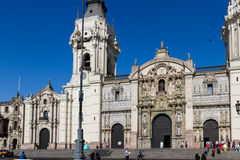Καθεδρικός ναός στη Λίμα, Περού Στοκ εικόνα με δικαίωμα ελεύθερης χρήσης