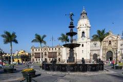Καθεδρικός ναός στη Λίμα, Περού Στοκ φωτογραφία με δικαίωμα ελεύθερης χρήσης