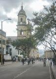 Καθεδρικός ναός στο ιστορικό κέντρο της Μπογκοτά Κολομβία Στοκ Εικόνες