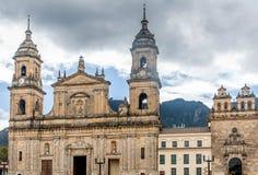Καθεδρικός ναός στο τετράγωνο bolívar στη Μπογκοτά, Κολομβία στοκ εικόνα με δικαίωμα ελεύθερης χρήσης
