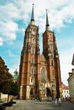 Καθεδρικός ναός στο tumski ostrow στο wroclaw Στοκ φωτογραφίες με δικαίωμα ελεύθερης χρήσης
