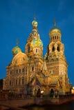 Καθεδρικός ναός της αναζοωγόνησης Savior στο αίμα στη νύχτα θόλος Isaac Πετρούπολη Ρωσία s Άγιος ST καθεδρικών ναών Στοκ Εικόνες
