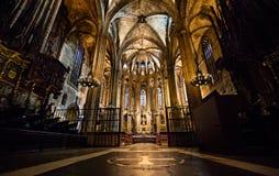 Καθεδρικός ναός της Βαρκελώνης, Ισπανία Στοκ εικόνα με δικαίωμα ελεύθερης χρήσης