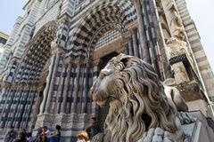 Καθεδρικός ναός της Γένοβας στην Ιταλία Στοκ φωτογραφίες με δικαίωμα ελεύθερης χρήσης
