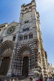 Καθεδρικός ναός της Γένοβας στην Ιταλία Στοκ Εικόνες