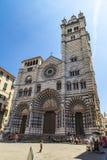 Καθεδρικός ναός της Γένοβας στην Ιταλία Στοκ Εικόνα