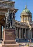 Καθεδρικός ναός της κυρίας μας Kazan και μνημείο Kutuzov, Άγιος Πετρούπολη, Ρωσία Στοκ εικόνες με δικαίωμα ελεύθερης χρήσης
