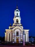 Καθεδρικός ναός της μεταμόρφωσης του Ιησού, Ntone'tsk στοκ φωτογραφίες