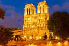 Καθεδρικός ναός της Νοτρ Νταμ, Παρίσι Γαλλία στοκ εικόνα με δικαίωμα ελεύθερης χρήσης