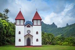 Καθεδρικός ναός της οικογένειας Αγίου στη γαλλική Πολυνησία Στοκ Φωτογραφίες