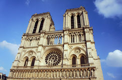Καθεδρικός ναός της Παναγίας των Παρισίων στοκ εικόνες