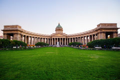 Καθεδρικός ναός της Πετρούπολης Kazan Sankt το φθινόπωρο Στοκ Εικόνα