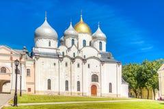 Καθεδρικός ναός της Ρωσίας Veliky Novgorod Κρεμλίνο ST Sophia Στοκ εικόνα με δικαίωμα ελεύθερης χρήσης