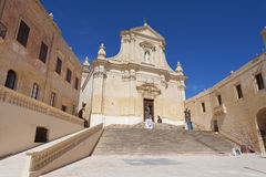 Καθεδρικός ναός της υπόθεσης στο Cittadella Βικτώριας σε Gozo Στοκ Εικόνα