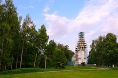 Καθεδρικός ναός της υπόθεσης της ευλογημένης Virgin στο Hill καθεδρικών ναών, Ples, Ρωσία Στοκ Εικόνες