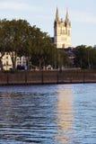 Καθεδρικός ναός της Angers στο ηλιοβασίλεμα Στοκ φωτογραφία με δικαίωμα ελεύθερης χρήσης
