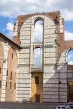 Καθεδρικός ναός τοίχων της Σιένα, Ιταλία Στοκ Φωτογραφία