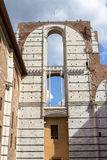 Καθεδρικός ναός τοίχων της Σιένα, Ιταλία Στοκ εικόνα με δικαίωμα ελεύθερης χρήσης