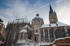 καθεδρικός ναός του Άαχ&epsilo Στοκ φωτογραφία με δικαίωμα ελεύθερης χρήσης