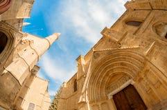 Καθεδρικός ναός του Άγιου Βασίλη (μουσουλμανικό τέμενος Lala Mustafa) Famagusta, Κύπρος Στοκ Εικόνες